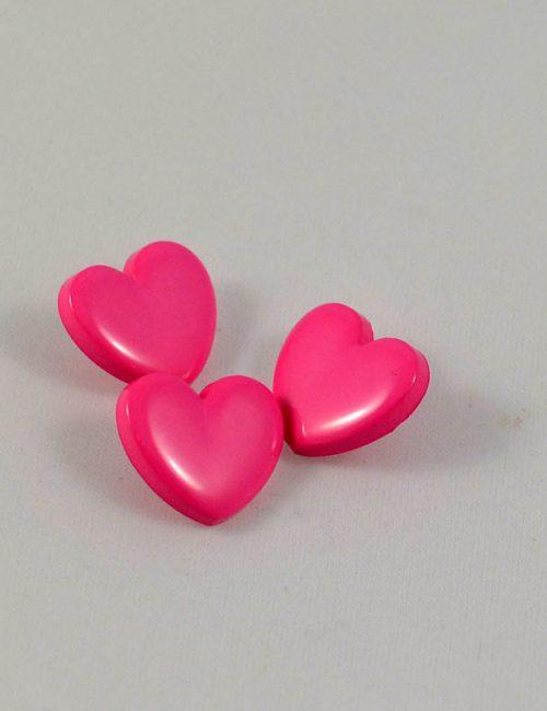 Gombík srdiečko ružové malé