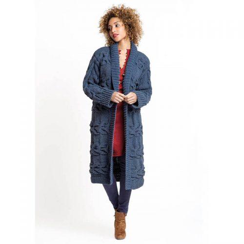 Darček: Návod na Dlhý pletený kabát