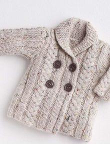 Navod na Detský svetrík so šálovým golierom