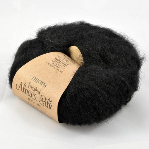 Brushed alpaca silk 16 čierna