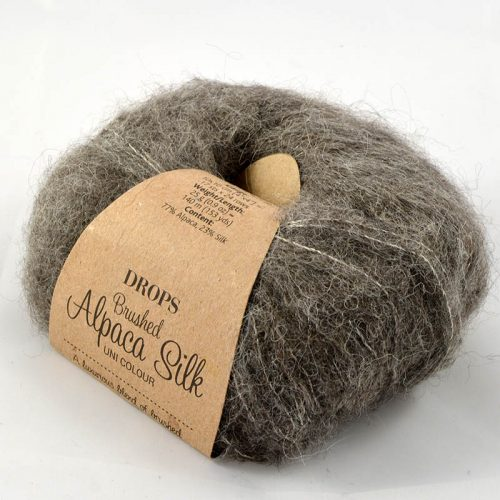 Brushed alpaca silk 3 hnedosivá