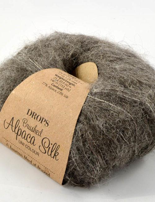 Brushed alpaca silk 3 hnedosivá
