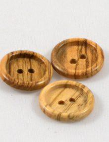 Gombík olivový malý dvojdierka