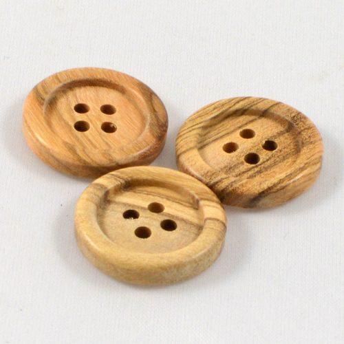 Gombík olivový malý štvordierka