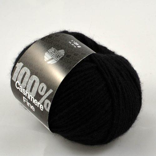 100% Cashmere fine 17 čierna