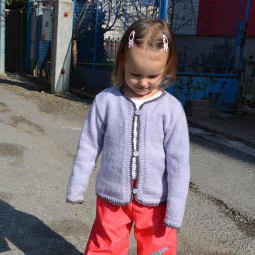Svetrík Baby Superwash fialový