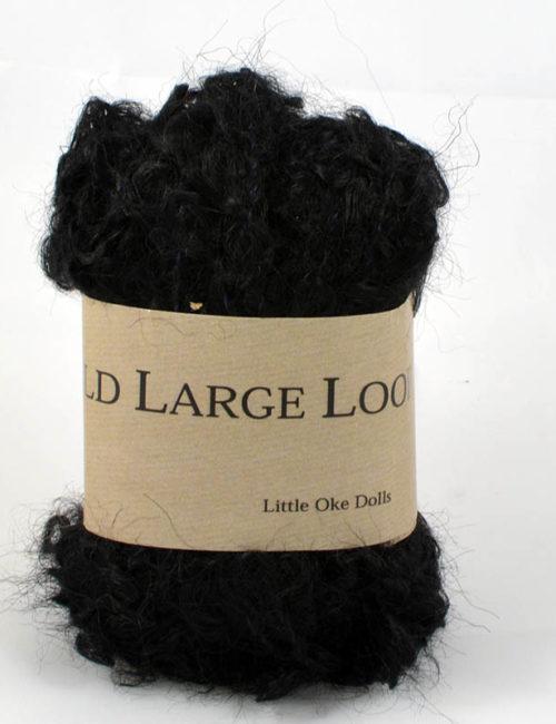 Wild large loop mohair čierna
