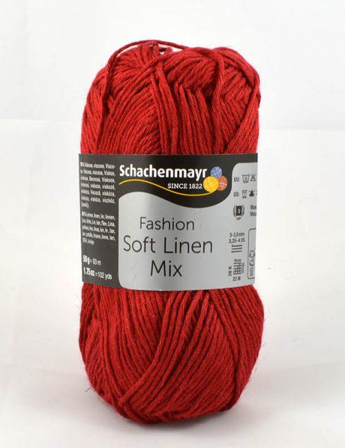 Soft Linen Mix 32 rubínová