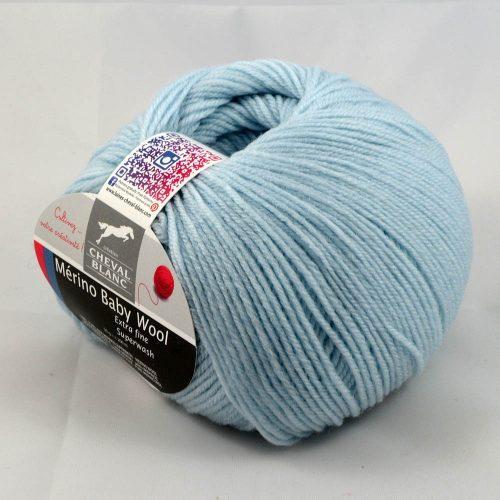 Merino Baby 99 bledá modrá