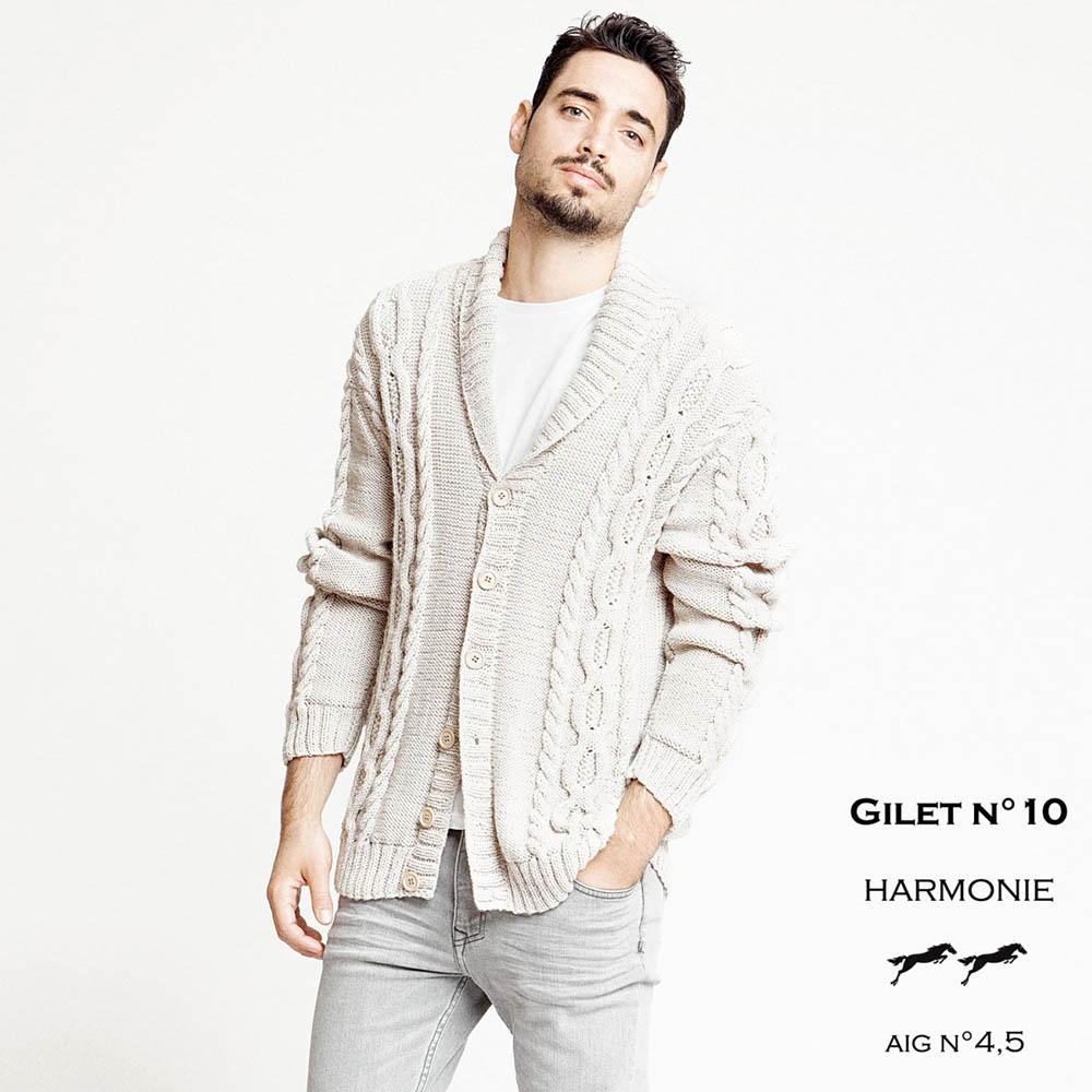 53ea40315767 CHB 29 10 Pánsky sveter so šálovým golierom - návod+priadza ...