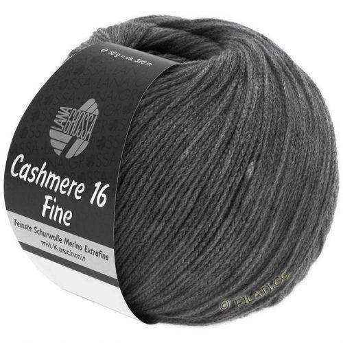 Cashmere 16 fine 16 Tmavá sivá