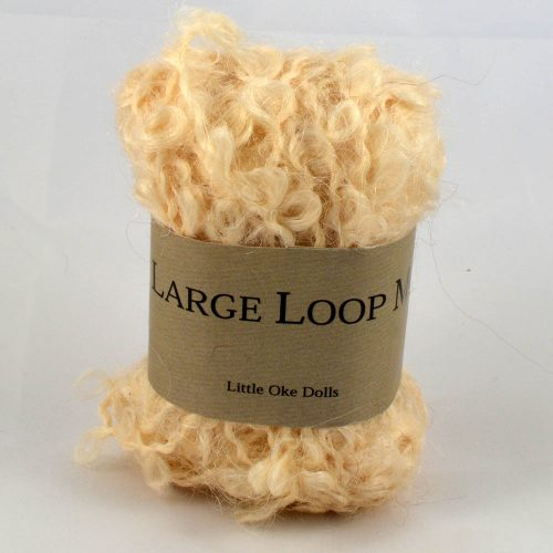 Wild large loop mohair blond