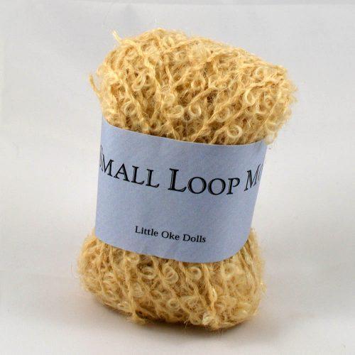 Wild small loop mohair prírodný blond