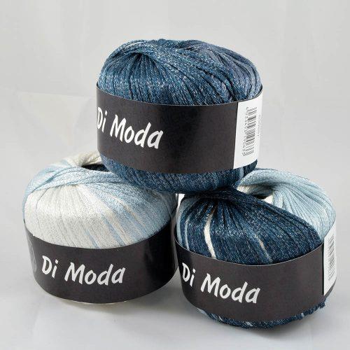 Di Moda 7 biela/svetlá modrá/tmavá modrá