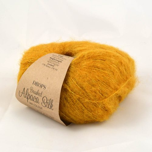 Brushed alpaca silk 19 horčicová