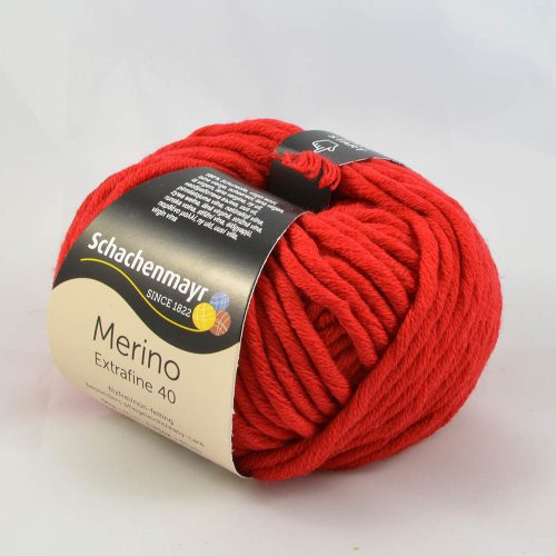 Merino extrafine 40 331 červená