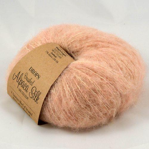 Brushed alpaca silk 20 púdrová marhuľková