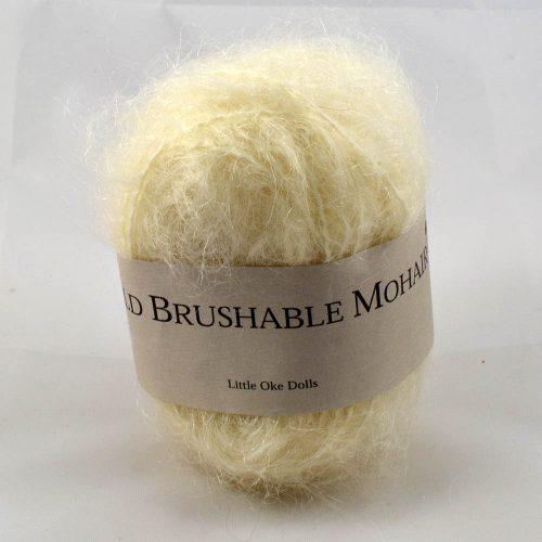Wild Brushable mohair prírodná biela