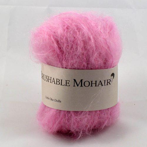 Wild Brushable mohair ružová