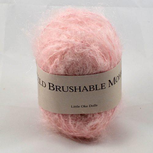 Wild Brushable mohair svetlá ružová