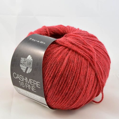 Cashmere 16 fine 22 červená