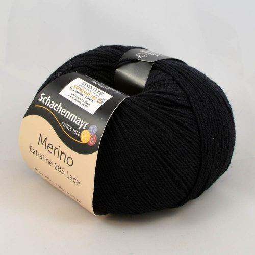 Merino extrafine 285 lace 599 čierna