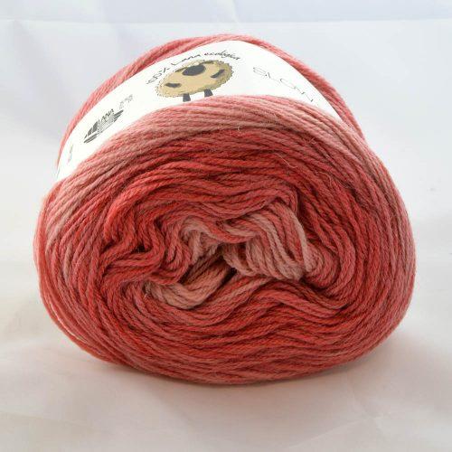 Slow Wool Lino degradé 202 koralová
