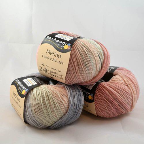 Merino extrafine Lace 285 580 pastelová