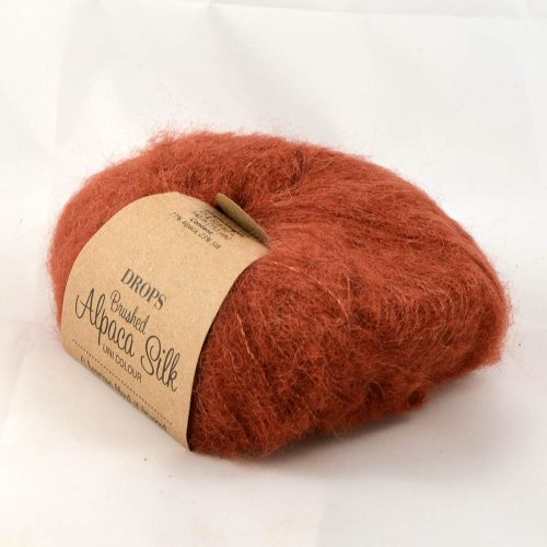 Brushed alpaca silk 24 škorica