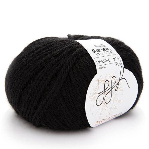 Baby Alpaka Farbe 24 čierna