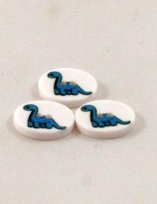 Gombík dinosaurus modrý