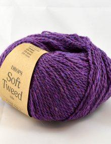 Soft Tweed 15 purpurová